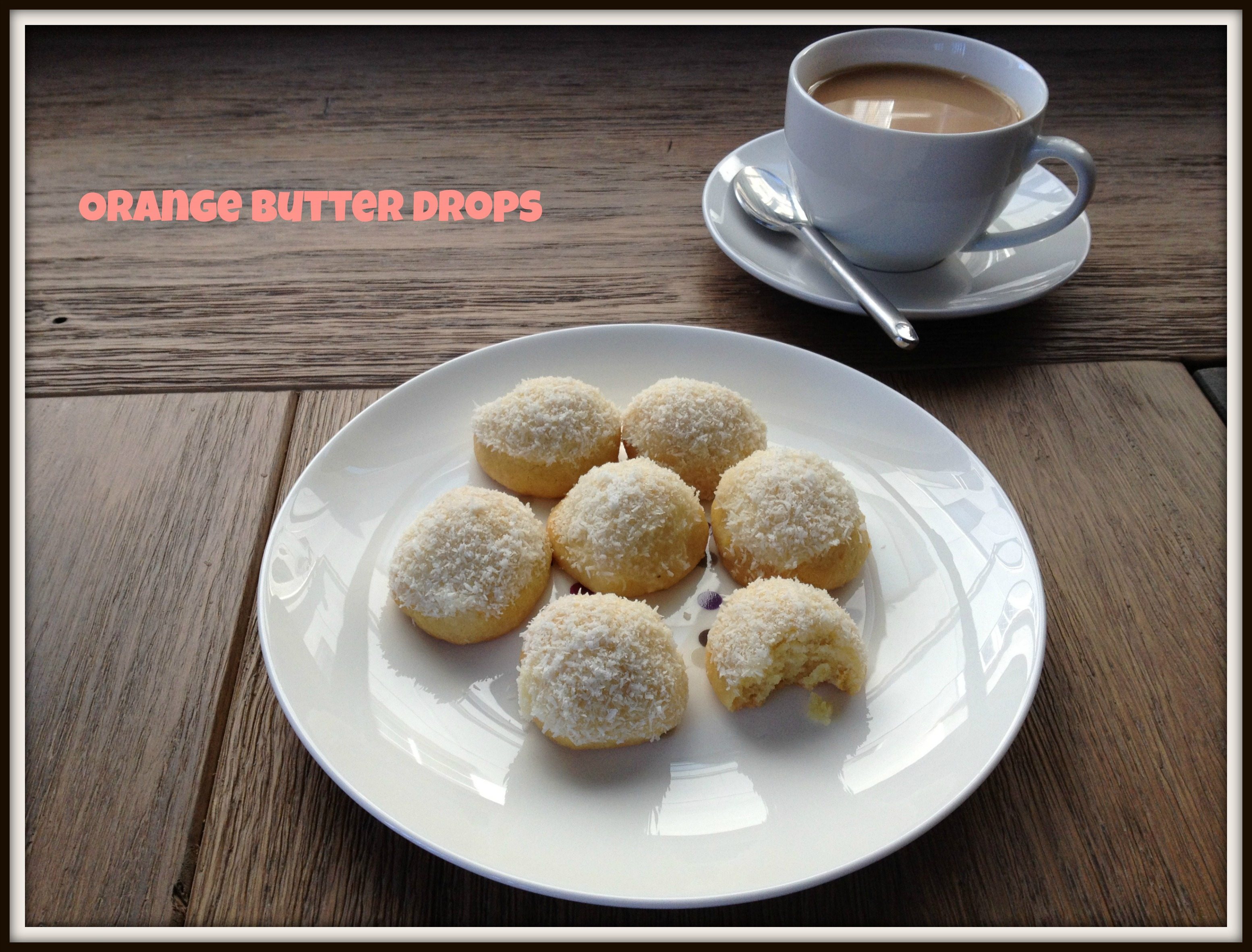 Orange Butter Drops With Shredded Coconut Recipes — Dishmaps